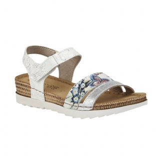Lotus Womens Prato White Velcro Sandals